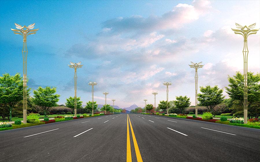栀子花景观路灯